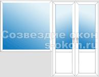 Балконный блок две двери