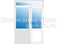Балконный блок с фрамугой