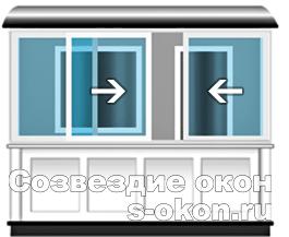 Раздвижные алюминиевые окна для балкона