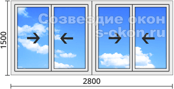 Алюминиевые окна с установкой