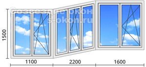 Цена алюминиевого остекления балконов