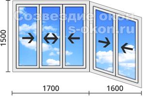 Цена холодного остекление балкона алюминиевым профилем