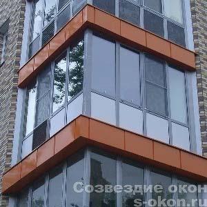 Распашной алюминиевый балкон