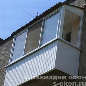 Остекление балкона в 5-этажке
