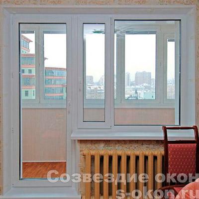 Пример двери с окном на балкон