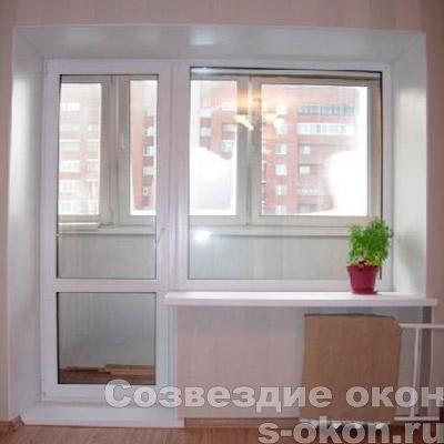 Пример двери на балкон со стеклопакетом