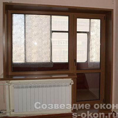 Пример двери со стеклопакетом на балкон