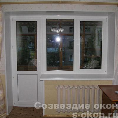 Пример балконной двери со стеклопакетом