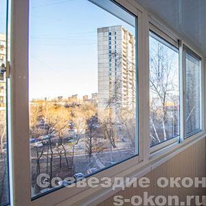 Пластиковые раздвижные балконные рамы