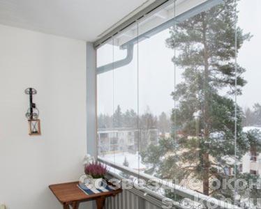 Финское безрамное остекление лоджий