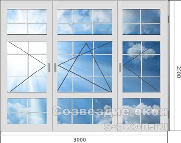 Окна больших размеров