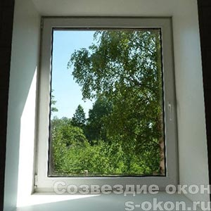 Цена на пластиковое одностворчатое окно со скидкой