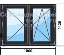 Цена на пластиковые окна черного цвета