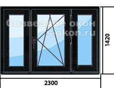Цена на пластиковые окна темного цвета