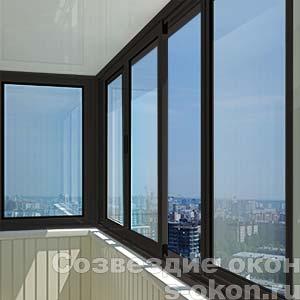 Черные алюминиевые окна