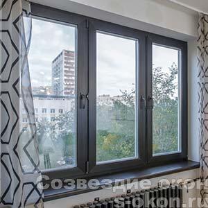 Черные окна в интерьере