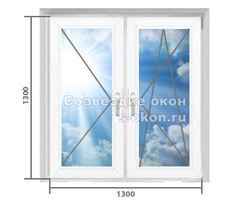 Двухстворчатое окно. Тип 1