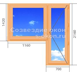 Цены на деревянные окна со стеклопакетом для квартиры