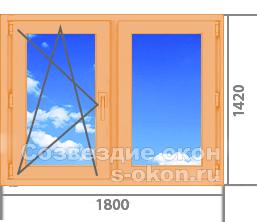 Купить деревянные окна со стеклопакетом от производителя