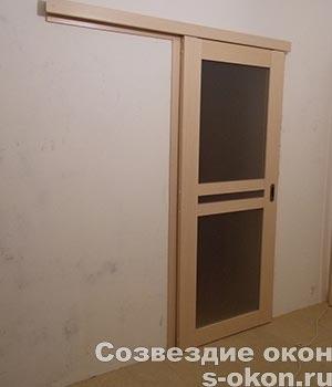 Межкомнатные раздвижные двери на рельсе