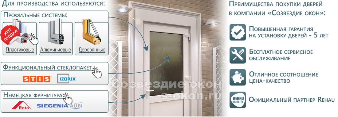 Из чего состоят двери со стеклом?