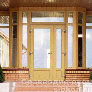 Цветные двери со стеклом