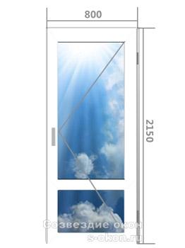 Цена на алюминиевую дверь со стеклом