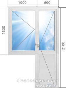 Балконная дверь со стеклопакетом