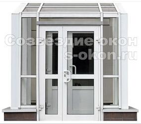 ПВХ дверь со стеклопакетом