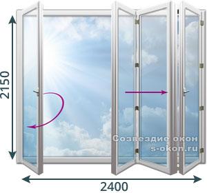 Двери гармошки из ПВХ профиля