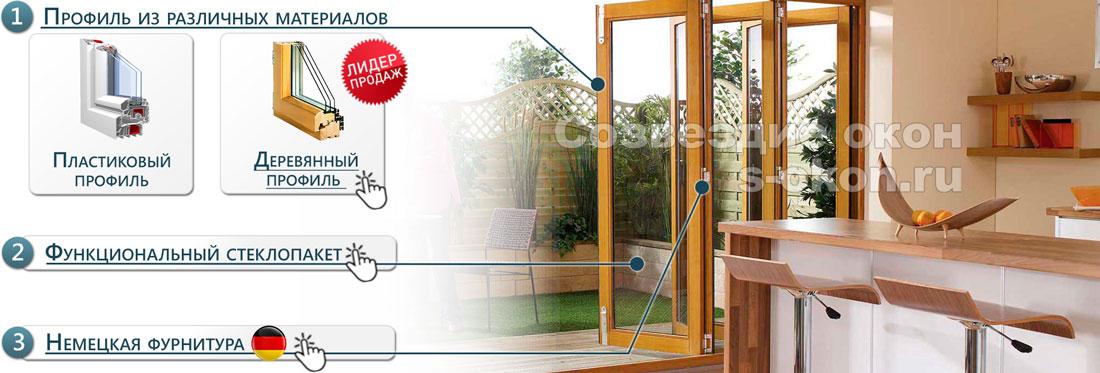 Основные элементы дверей гармошек