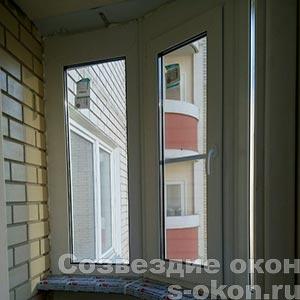 Эркерные пластиковые окна