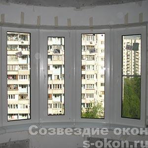 Пластиковые окна с эркером