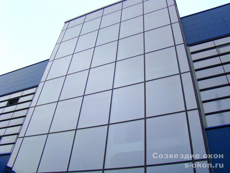 Остекление фасадное структурное