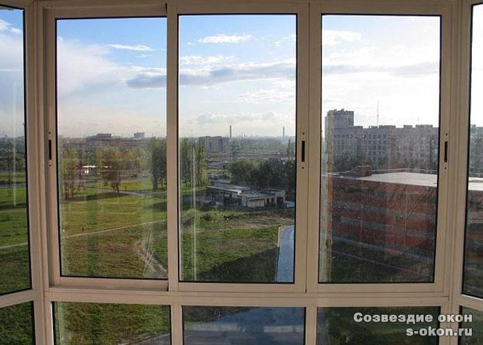 Алюминиевые окна раздвижные