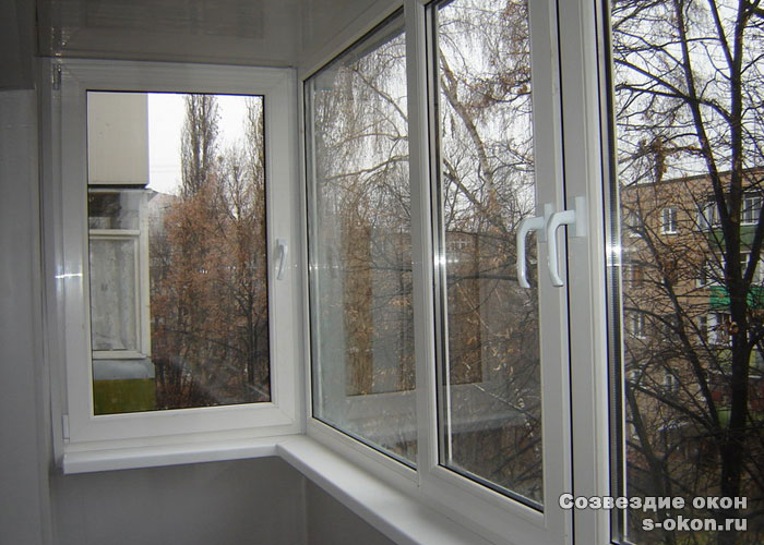 Остекление балконов и лоджий пластиковыми окнами