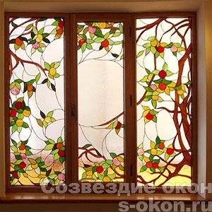 Фото коричневого пластикового окна