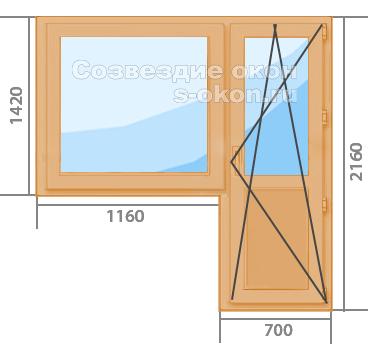 Купить коричневые пластиковые окна с дверью