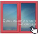 Тонированные красные окна
