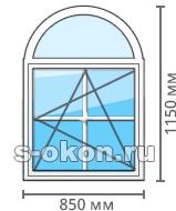 Размеры и цены арочных окон
