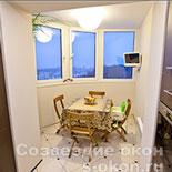 Объединить кухню с балконом