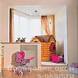 Вариант объединения балкона с детской