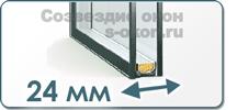 Однокамерный стеклопакет 24 мм