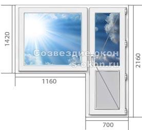 Купить окна ПВХ с дверью