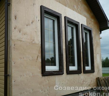 Пример пластиковых окон в дом