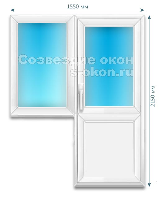 Цены на пластиковые окна с дверью в Химках
