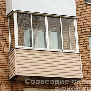 Остекление балкона в Звенигороде