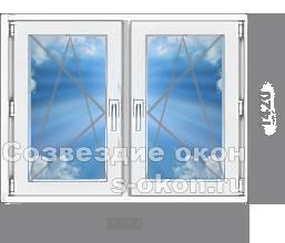 Двухстворчатое окно для дачи