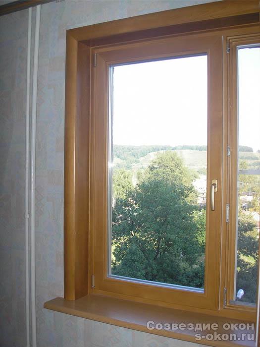 Откосы деревянные окна своими руками