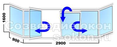 Пластиковые поворотно-откидные окна на балкон